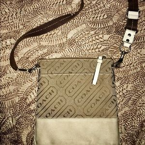 Coach printed crossbody vintage style pre owned